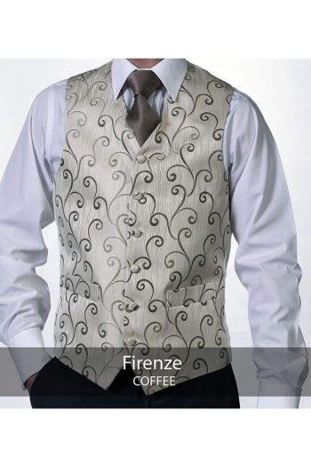 Heirloom Firenze Mens Coffee Luxury 100% Wool Tweed Waistcoat - 34R - WAISTCOATS