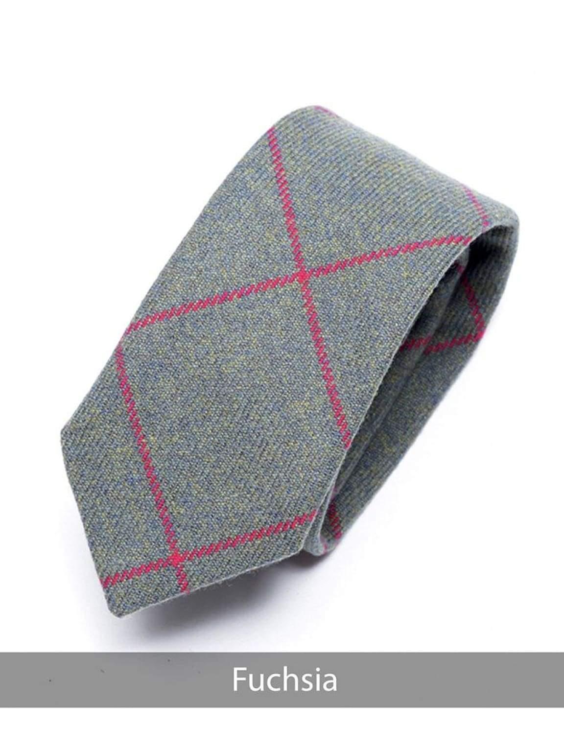 Heirloom Fuchsia Mens Checked Tie - Accessories