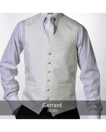 Heirloom Gerrard Mens Ivory Luxury 100% Wool Tweed Waistcoat - 34R - WAISTCOATS