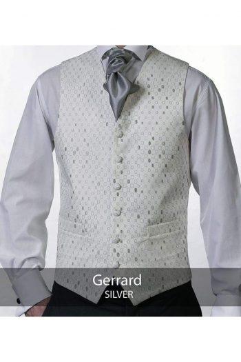 Heirloom Gerrard Mens Silver Luxury 100% Wool Tweed Waistcoat - 34R - WAISTCOATS