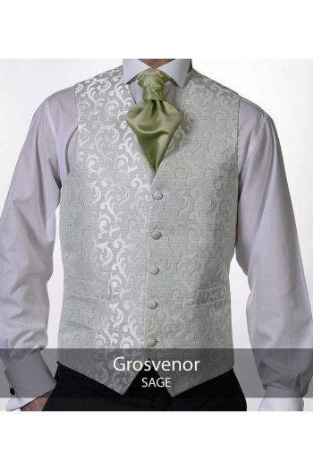 Heirloom Grosvenor Mens Sage Luxury 100% Wool Tweed Waistcoat - 34R - WAISTCOATS