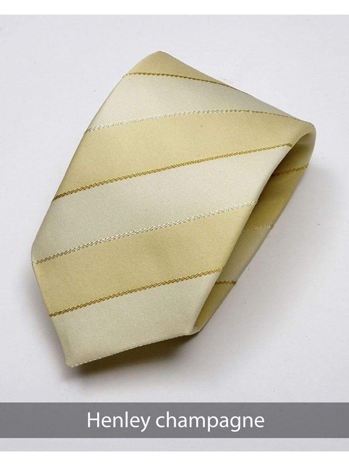 Heirloom Henley Mens Champagne Stripped Tie - Accessories
