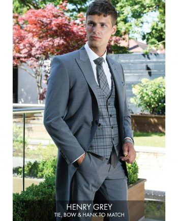 Heirloom Henry Mens Grey Luxury Waistcoat - 34R - WAISTCOATS