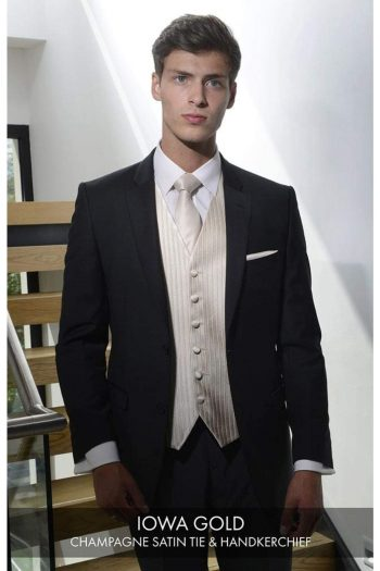 Heirloom Iowa Mens Gold Luxury 100% Wool Tweed Waistcoat - 34R - WAISTCOATS