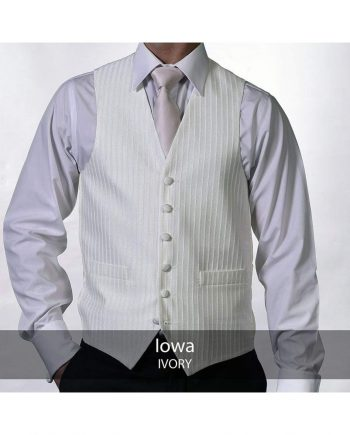 Heirloom Iowa Mens Ivory Luxury 100% Wool Tweed Waistcoat - 34R - WAISTCOATS