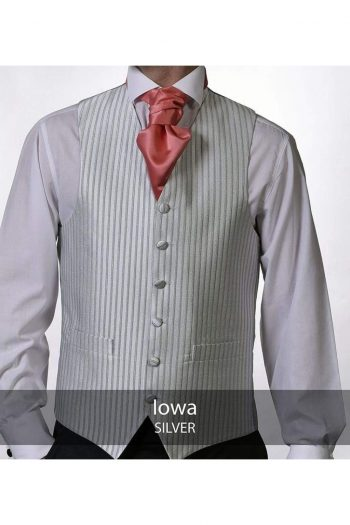 Heirloom Iowa Mens Silver Luxury 100% Wool Tweed Waistcoat - 34R - WAISTCOATS