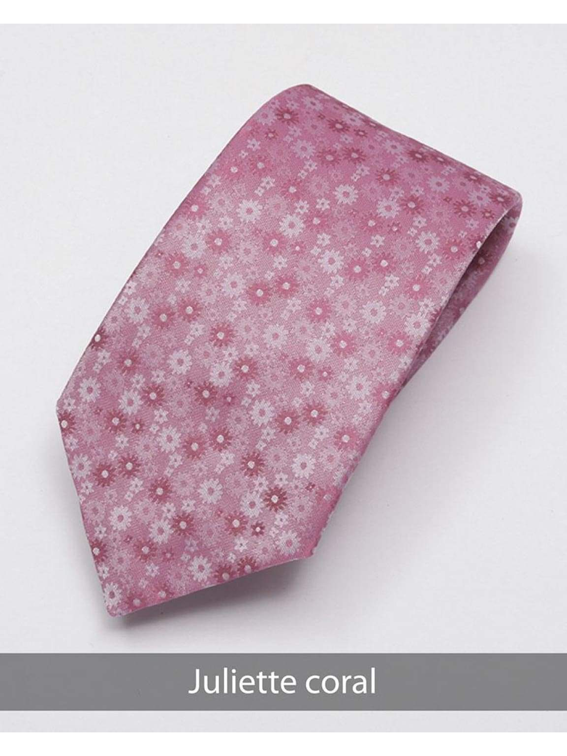 Heirloom Juliette Mens Coral Floral Tie - Accessories