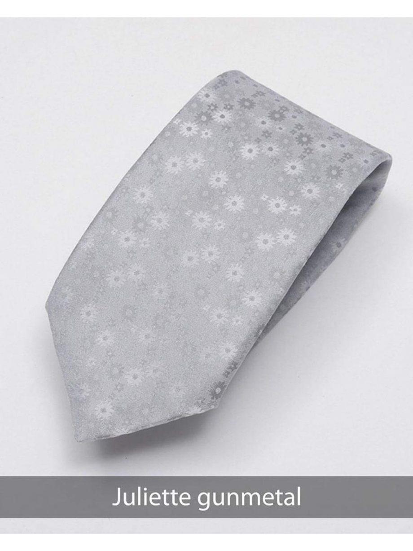 Heirloom Juliette Mens Gunmetal Floral Tie - Accessories