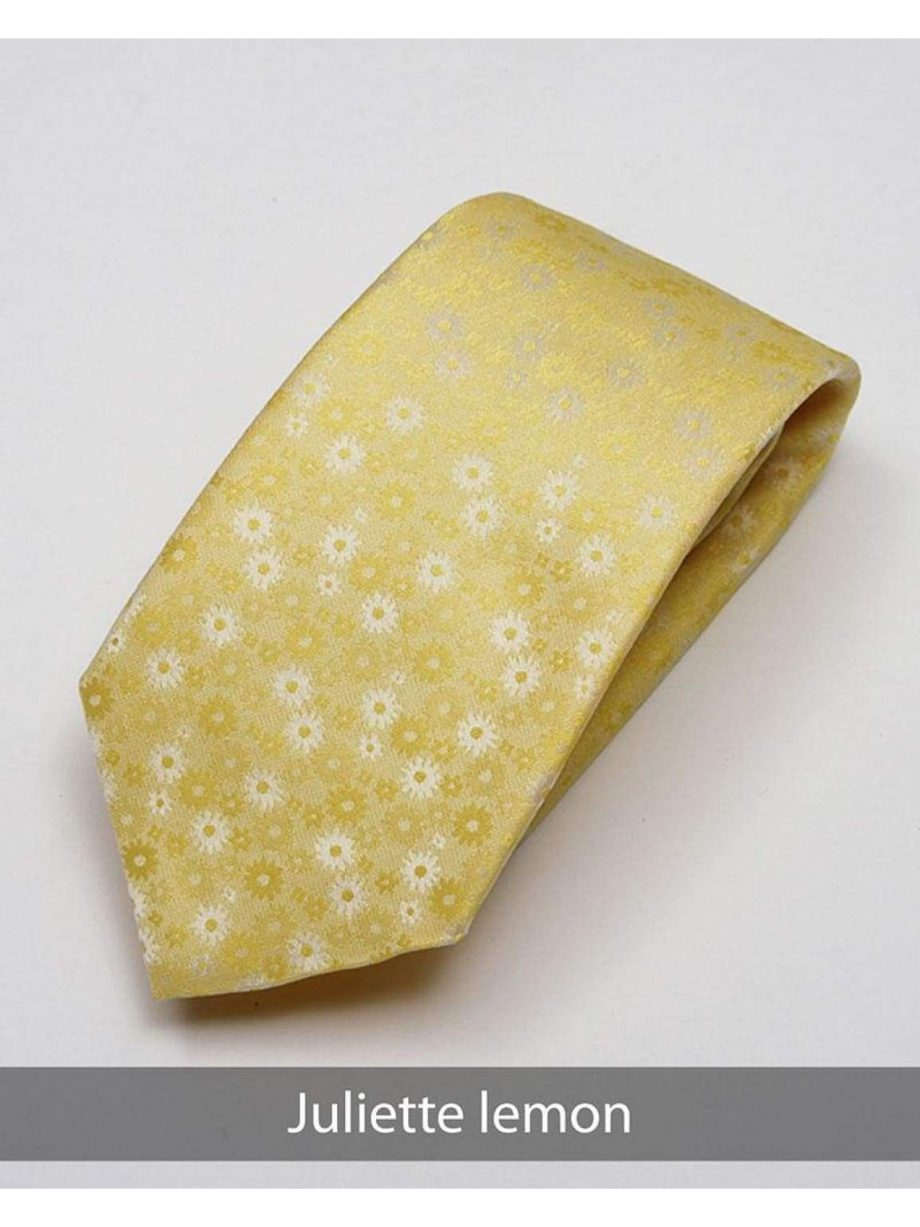 Heirloom Juliette Mens Lemon Floral Tie - Accessories