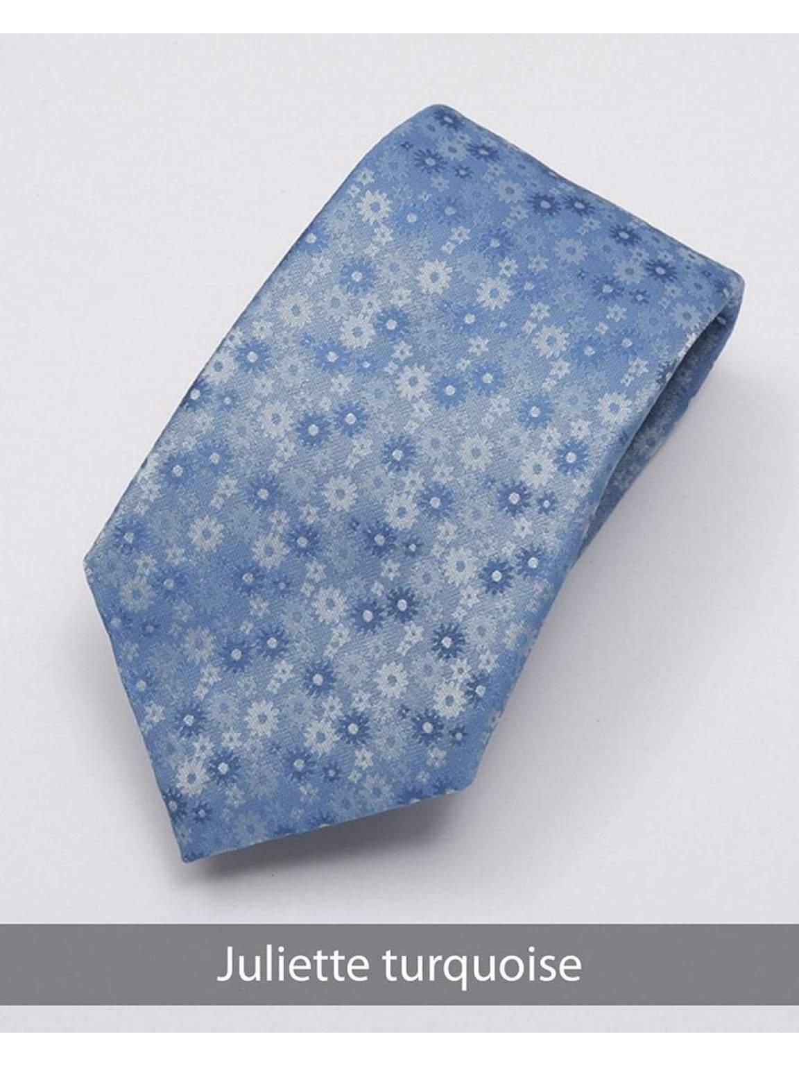 Heirloom Juliette Mens Turquoise Floral Tie - Accessories
