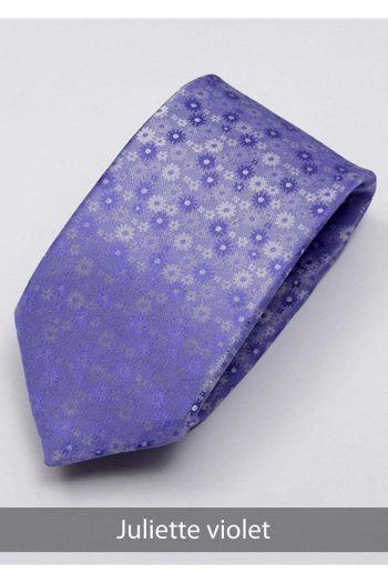 Heirloom Juliette Mens Violet Floral Tie - Accessories
