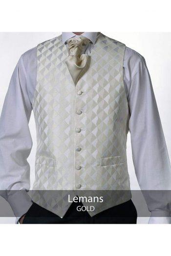 Heirloom Lemans Mens Gold Luxury 100% Wool Tweed Waistcoat - 34R - WAISTCOATS