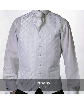 Heirloom Lemans Mens White Luxury 100% Wool Tweed Waistcoat - WAISTCOATS