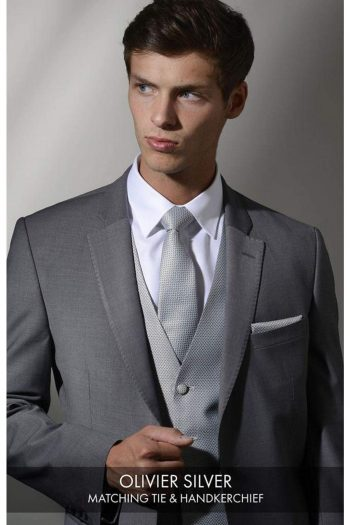 Heirloom Olivier Mens Silver Luxury 100% Wool Tweed Waistcoat - WAISTCOATS