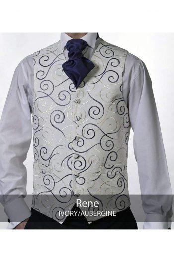Heirloom Rene Mens Ivory Luxury 100% Wool Tweed Waistcoat - 34R - WAISTCOATS