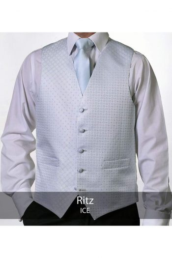 Heirloom Ritz Mens Ice Luxury 100% Wool Tweed Waistcoat - 34R - WAISTCOATS