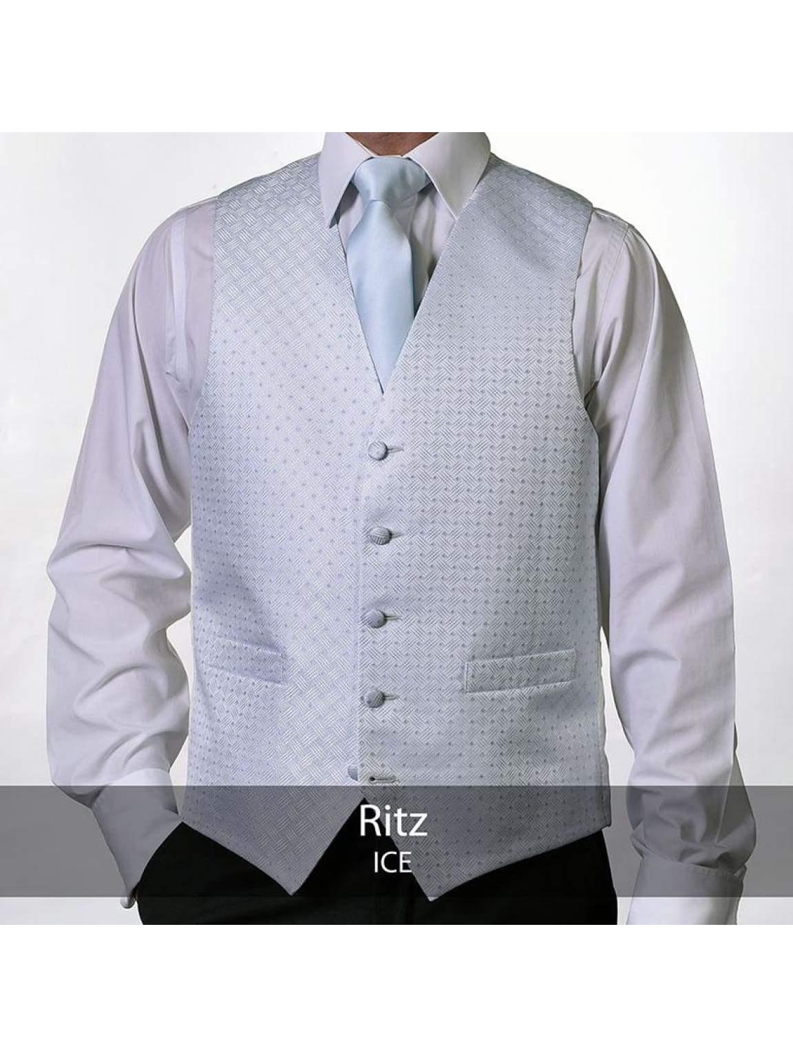 Heirloom Ritz Mens Ice Luxury 100% Wool Tweed Waistcoat - 34R - WAISTCOATS