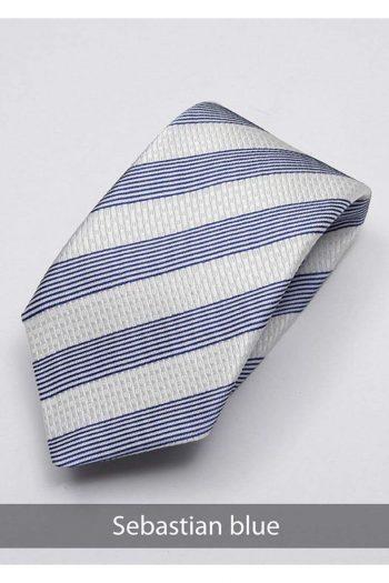 Heirloom salvadore Mens Blue Stripped Tie - Accessories