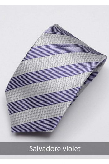 Heirloom salvadore Mens Violet Stripped Tie - Accessories