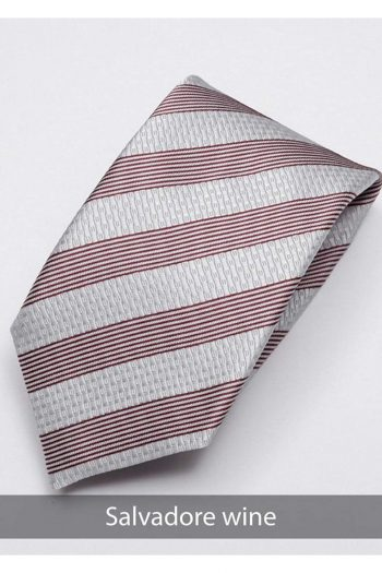 Heirloom salvadore Mens Wine Stripped Tie - Accessories