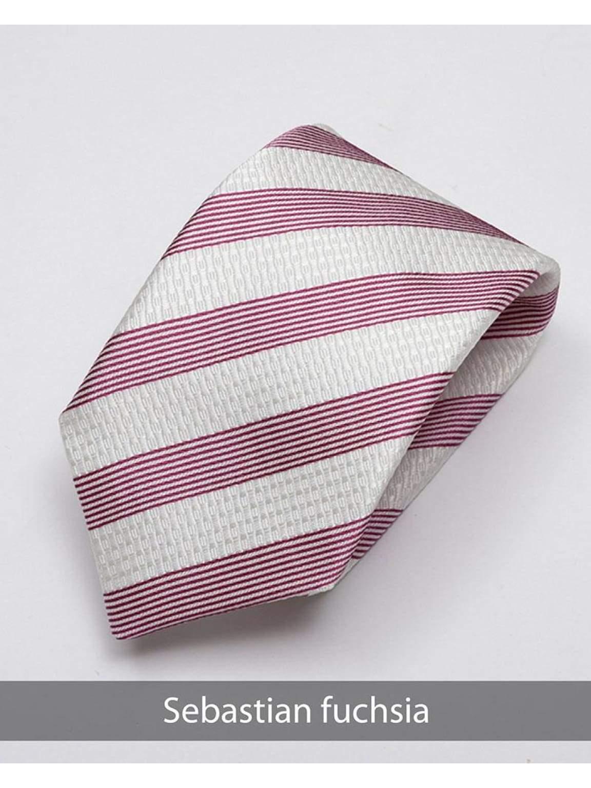 Heirloom Sebastian Mens Fuchsia Stripped Tie - Accessories