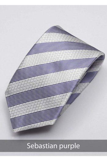 Heirloom Sebastian Mens Purple Stripped Tie - Accessories