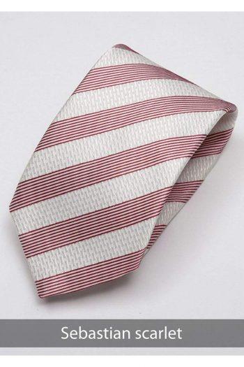 Heirloom Sebastian Mens Scarlet Stripped Tie - Accessories