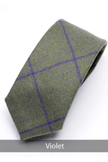 Heirloom Violet Mens Checked Tie - Accessories