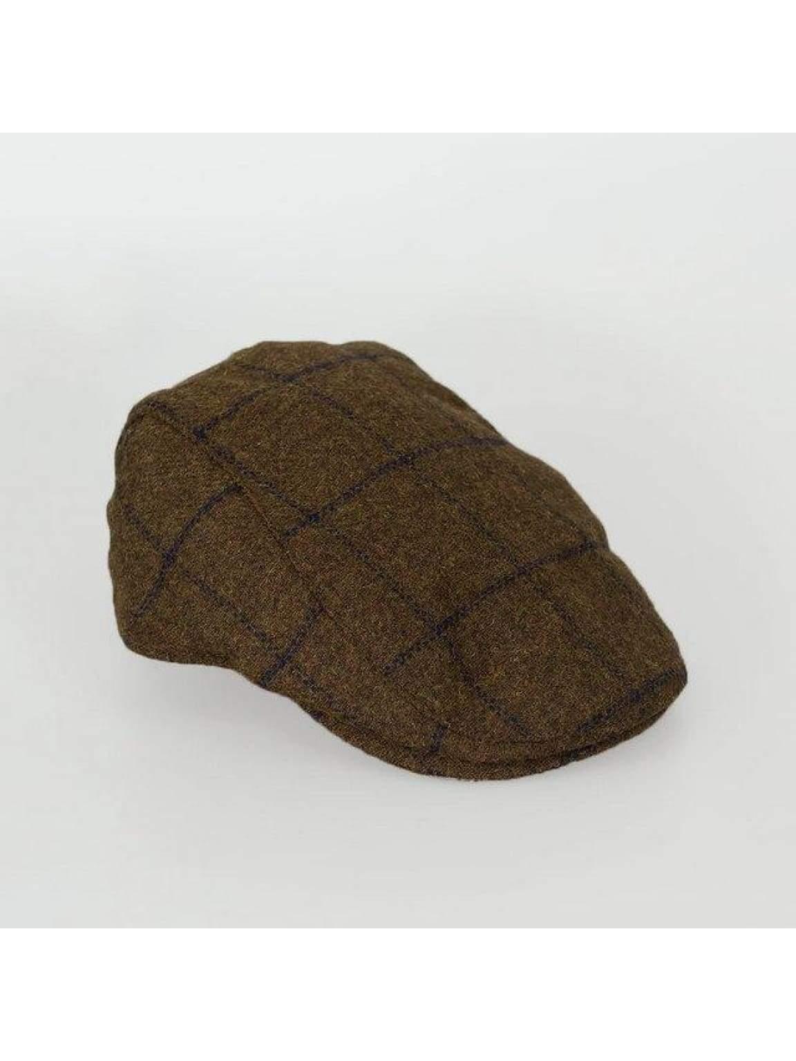 Kemson Tobacco Check Flat Cap - S/M - Accessories