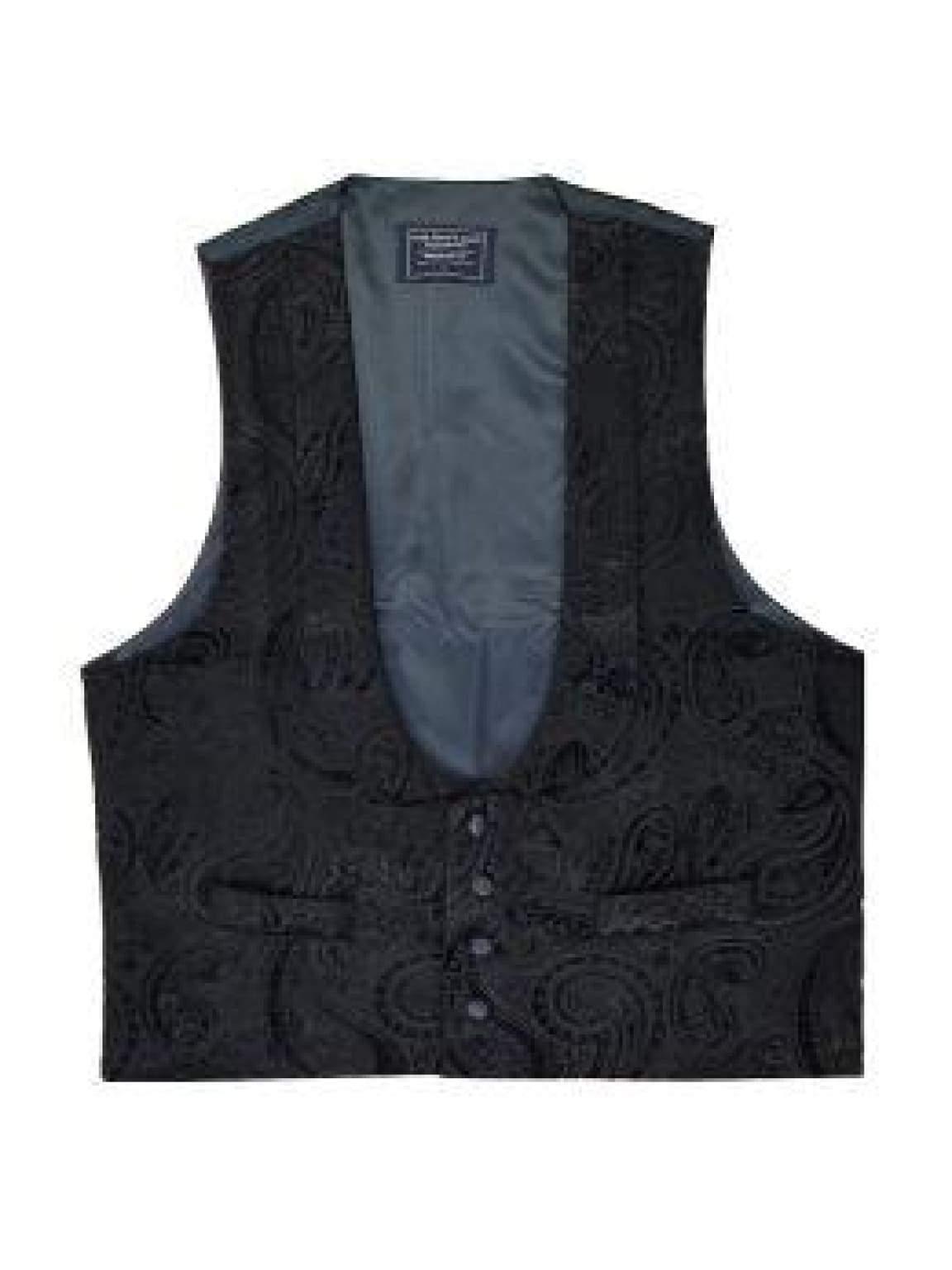 L A Smith Black Velvet Scoop Evening Waistcoat - Suit & Tailoring
