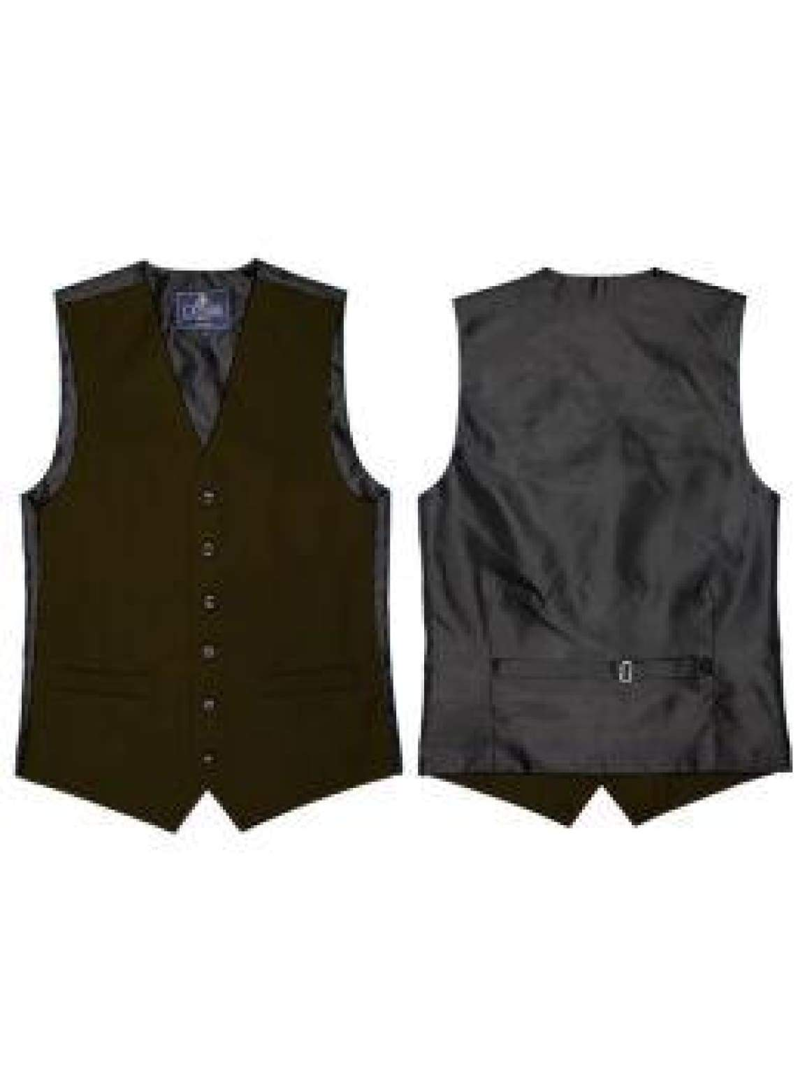 L A Smith Green Plain Country Waistcoat - S - Suit & Tailoring