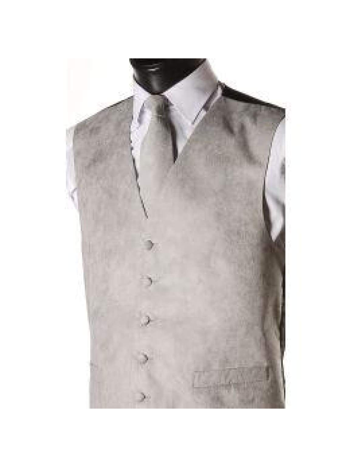 L A Smith Grey Suede Look Waistcoat - S - Suit & Tailoring