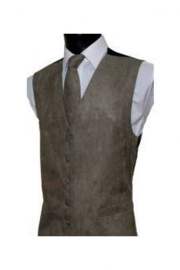 L A Smith Tuape Suede Look Waistcoat - S - Suit & Tailoring