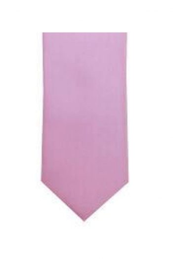 LA Smith Baby Pink Skinny Weft Satin Tie - Accessories