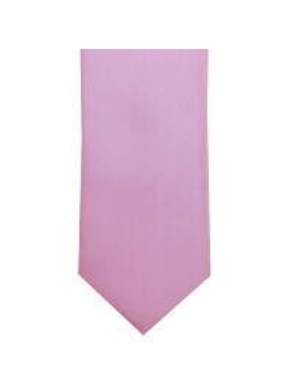 LA Smith Baby Pink Skinny Weft Satin Tie - Accessories