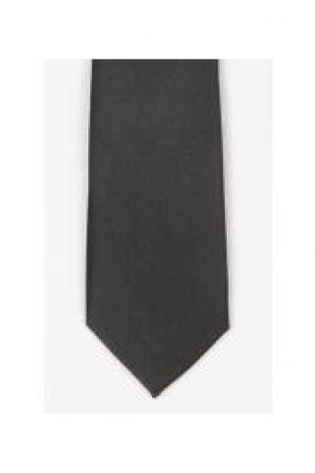 LA Smith Black Skinny Satin Tie - Accessories