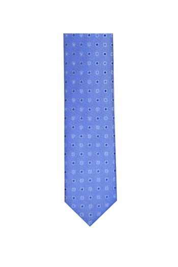 LA Smith Blue Skinny Polka Dot Tie - Accessories