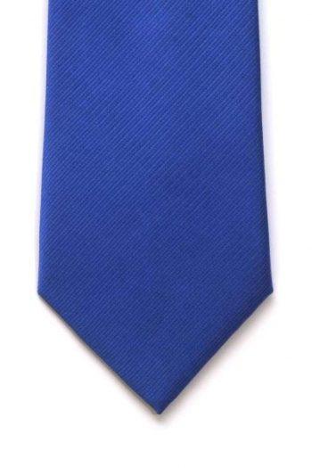 LA Smith Blue With Orange Tipping Silk Tie - Accessories