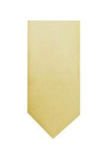 LA Smith Caramel Skinny Weft Satin Tie - Accessories
