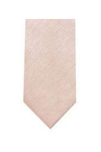 LA Smith Champagne Skinny Shantung Tie - Accessories