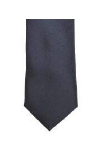 LA Smith Charcoal Skinny Weft Satin Tie - Accessories