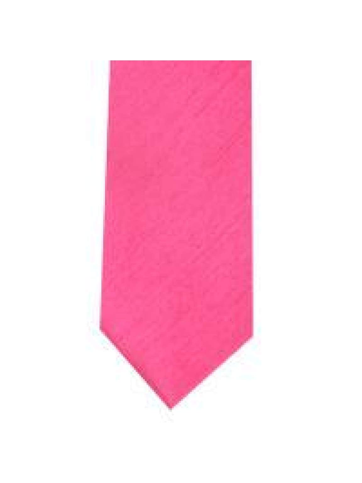 LA Smith Fuchsia Skinny Shantung Tie - Accessories