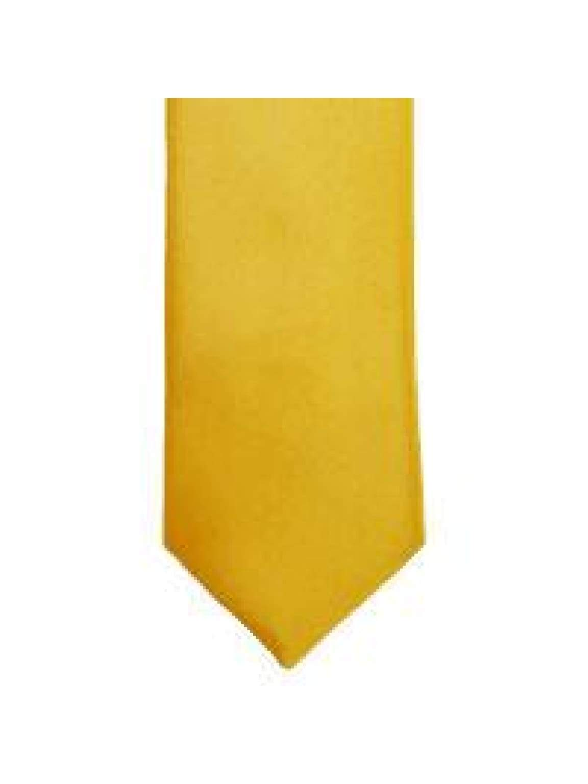 LA Smith Gold Skinny Weft Satin Tie - Accessories