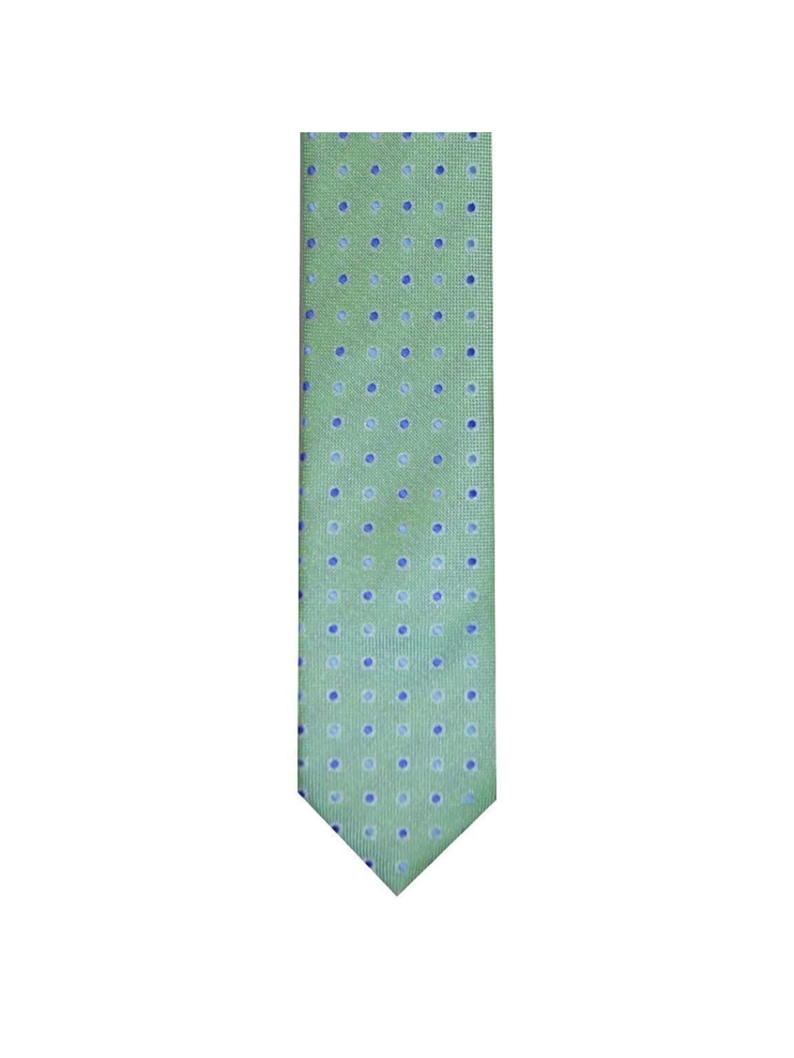 LA Smith Green Skinny Polka Dot Tie - Accessories