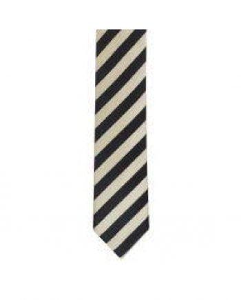 LA Smith Grey And White Skinny Stripe Tie - Accessories