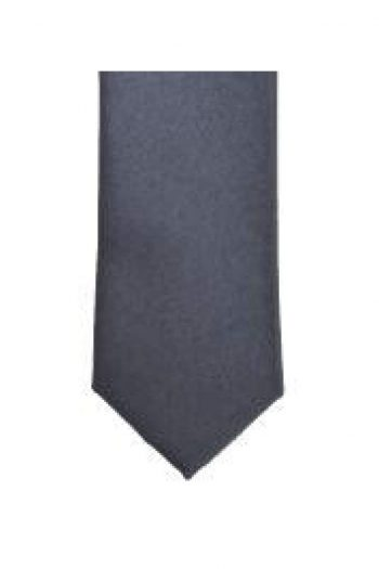 LA Smith Gunmetal Skinny Weft Satin Tie - Accessories