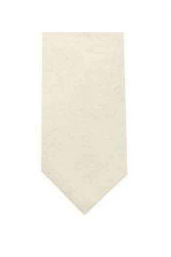LA Smith Ivory Skinny Shantung Tie - Accessories