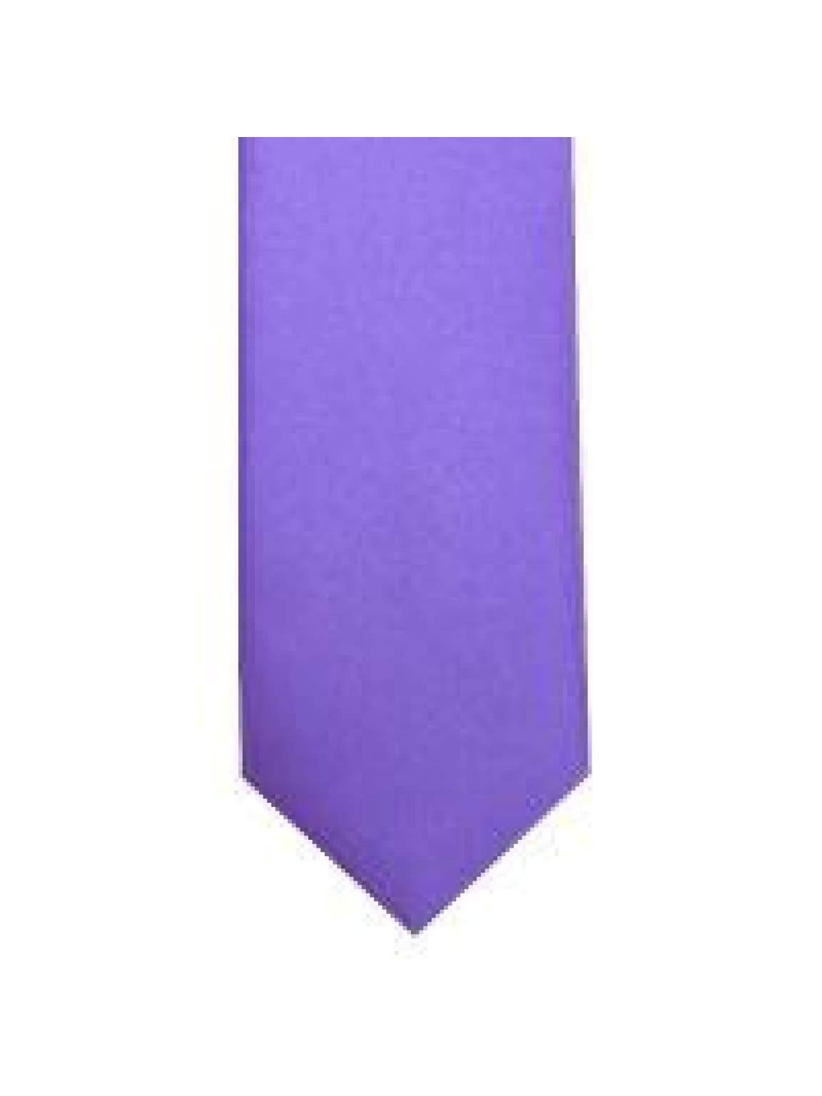 LA Smith Lavender Skinny Weft Satin Tie - Accessories