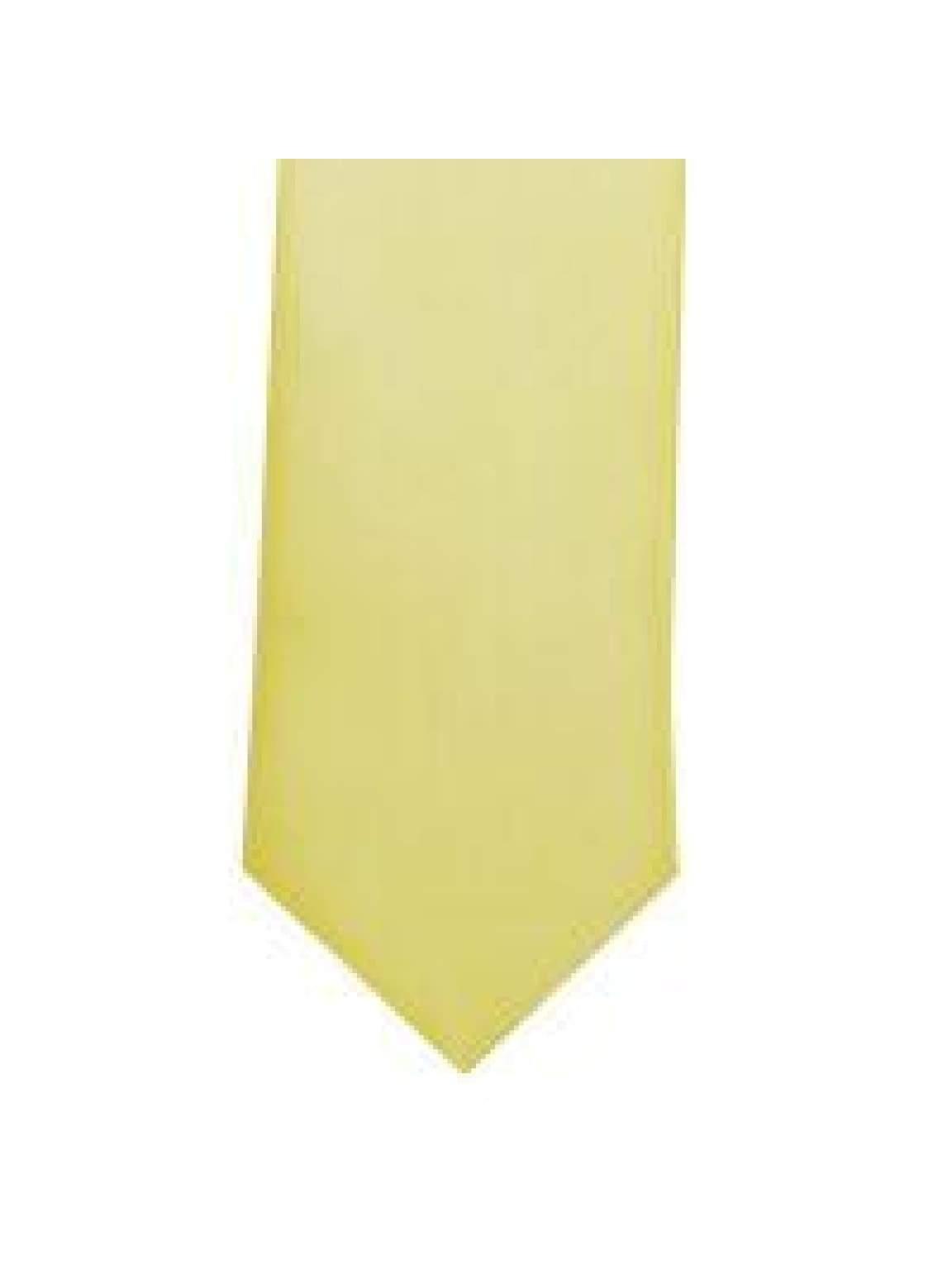 LA Smith Lemon Skinny Weft Satin Tie - Accessories