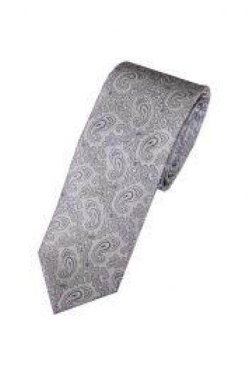 LA Smith Lilac Skinny Paisley Tie - Accessories